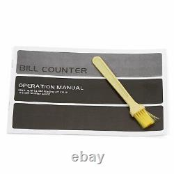 100PCS 110V Bill Counter Cash Money Currency Counting Magnetic Detector Machine