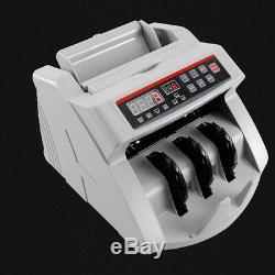 110V-220VCash Bill Counter Money Currency Counting Bank Machine Counterfeit