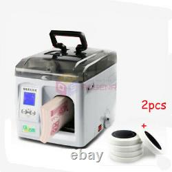 220V Money Bundle Machine Currency Strapping Tool Bank Cash Packer Package