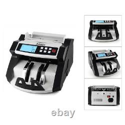 Aibecy Digital Currency Counter Cash Money Value Counterfeit Detector LCD UV &MG