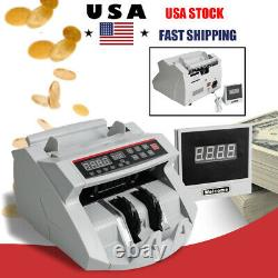 Automatic Bill Money Counter Machine Currency Cash Counting Counterfeit Detector