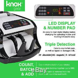 BILL COUNTER MONEY CASH BANKNOTE MACHINE COUNT CURRENCY With COUNTERFEIT DETECTION