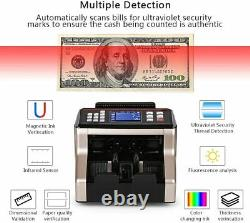 Bill Money Counter Cash Currency Count Counting Automatic Bank Machine UV/MG