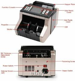 Bill Money Counter Cash Currency Count Counting Automatic Bank Machine UV/MG US