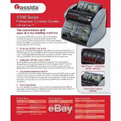 Cassida 5700 Professional Grade Currency Counter with UV Counterfeit Detection