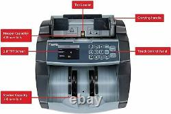 Cassida 6600 UV/MG Counterfeit Detection Business Grade Currency Counter
