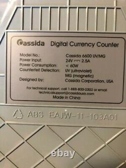 Cassida 6600 UV/MG Ultraviolet Counterfeit Detection Currency Counter