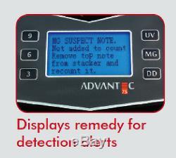 Cassida Advantec 75um Currency Counter Advanced Heavy Duty