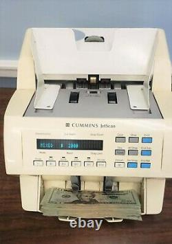 Cummins JetScan 4062 Currency Counter Model 4062 406-9902-00 With Bill Hopper