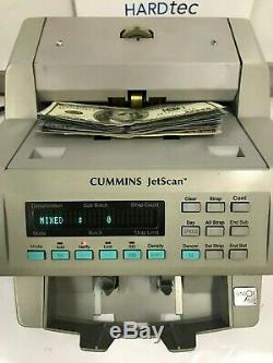 Cummins JetScan 4065 Currency Counter New $100 bills Refurbished