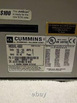 Cummins JetScan 4068 Commercial Currency Counter USED WORKS FINE TESTED