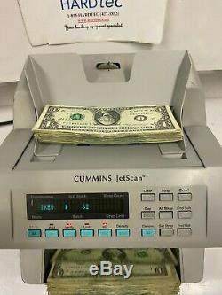 Cummins JetScan Model 4068 Cash Money Currency Counter reads new $100 bills
