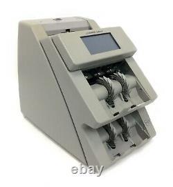 Cummins Jetscan 4096 Dual Pocket Currency Cash Bill Counter 409-9906-00 Gray