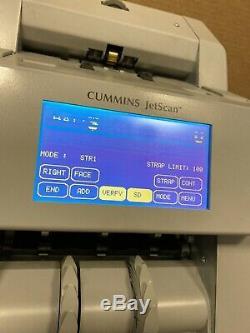 Cummins Jetscan 4096 Two-Pocket Currency Counter Scanner Sorter