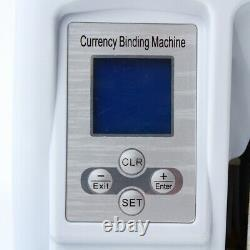 Full Automatic Money Bundle Cash Binding Bill Currency Strapping Machine 110V