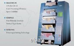 Kisan K500 Pro Multi-pocket Banknote Sorter Money Currency Bill Discriminator