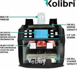 Kolibri Signature Two Pocket Currency Discriminator Money Counter & Sorter