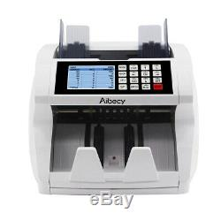 LCD Money Bill Currency Counter UV MG IR Counterfeit Detector Mix Counting BATCH