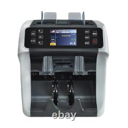 Mixed Denomination Currency Counter with UV, MG, MT, IR counterfeit detection