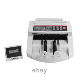 Money Bill Cash Counter Bank Currency Counting Machine &MG Counterfeit Detect