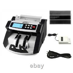 Money Bill Cash Counter Bank Currency Counting Machine UV & MG Counterfeit