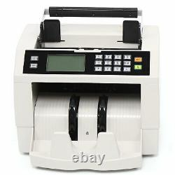 Money Bill Cash Counter Bank Machine Currency Counting Magnetic + Power Cable