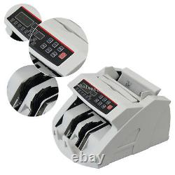 Money Bill Cash Counter Currency Counting Machine UV MG Counterfeit Detector