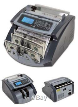 Money Bill Counter Machine Professional Cash Counting Bank Currency Sorter with UV