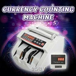 Money Bill Counter Machine Worldwide Currency Professional Portable with Fake