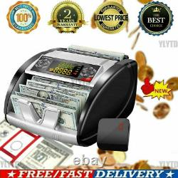 Money Bill Currency Counter Counting Machine Counterfeit Detector UV MG Cash`