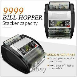 Money Bill Currency Counter Counting Machine Counterfeit Detector UV MG Cash `