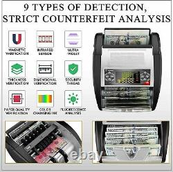 Money Bill Currency Counter Counting Machine Counterfeit Detector UV MG Cash, \