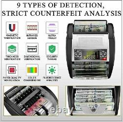 Money Bill Currency Counter Counting Machine Counterfeit Detector UV MG Cash/