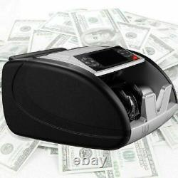 Money Bill Currency Counter Counting Machine Counterfeit Detector UV MG Cash#