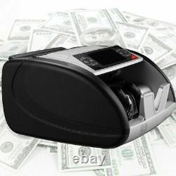 Money Bill Currency Counter Counting Machine Counterfeit Detector UV MG Cash 2+1