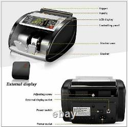 Money Bill Currency Counter Counting Machine Counterfeit Detector UV MG Cash A `
