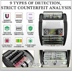 Money Bill Currency Counter Counting Machine Counterfeit Detector UV MG Cash#`A