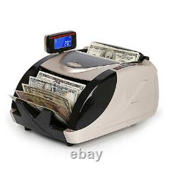 Money Bill Currency Counter Counting Machine Counterfeit Detector UV MG Cash EE