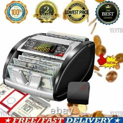 Money Bill Currency Counter Counting Machine Counterfeit Detector UV+MG\Cash Hot