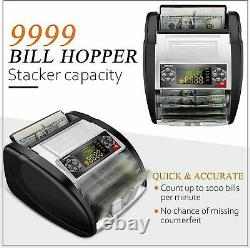 Money Bill Currency Counter Counting Machine Counterfeit Detector UV MG Cash Hot