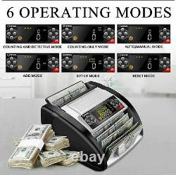 Money Bill Currency Counter Counting Machine Counterfeit Detector UV MG Cash O