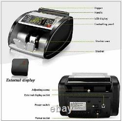 Money Bill Currency Counter Counting Machine Counterfeit Detector UV MG Cash W