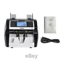 Money Bill Currency Counter Counting Machine Counterfeit Detector UV MG IR N3I7