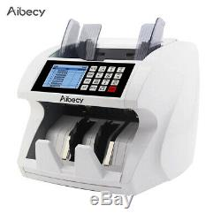 Money Bill Currency Counter Detector Mix Value Cash Counting Machine LCD V3K4