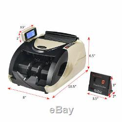 Money Cash Currency Counter Automatic Machine Counterfeit Bill Detector UV MG