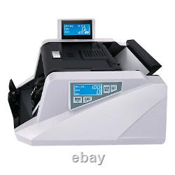 Money Counter Bill Cash Counting Machine Multi-Currency With Counterfeit Detection
