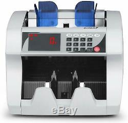 Money Counter, Bill Cash Currency Counting Machine, UV MG Counterfeit Detector