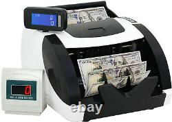 Money Counter UV MG Bill Counting Machine Currency Counterfeit Cash LED Display