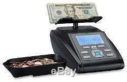 Money Counting Scale Coin Counter Checker Bill Note Cash Currency Machine ZZap