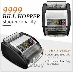 NX-510 Money Bill Cash Counter Bank Machine Currency Counting UV MG Counterfeit